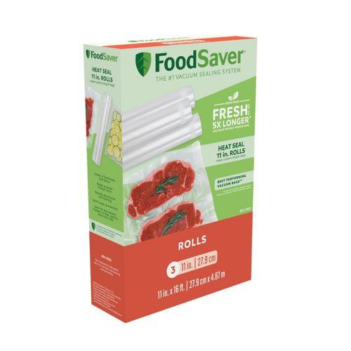 FoodSaver 11-in. Heat-Seal Rolls - 3-pk.