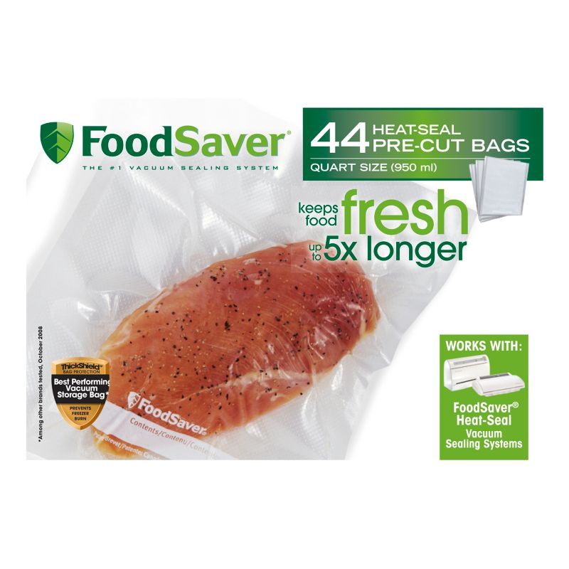 FoodSaver 1-qt. Heat-Seal Bags - 44-pk, Multicolor