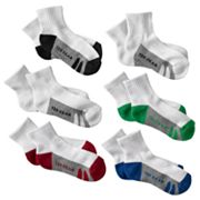 Tek Gear 6-pk. Striped 1/4-Crew Socks - Boys 6-11