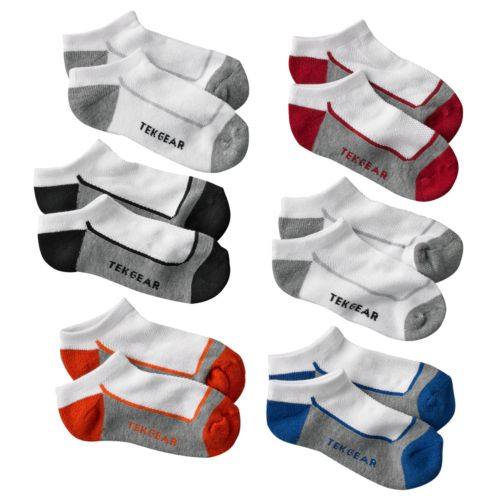 Tek Gear® 6-pk. No-Show Socks - Boys 6-11