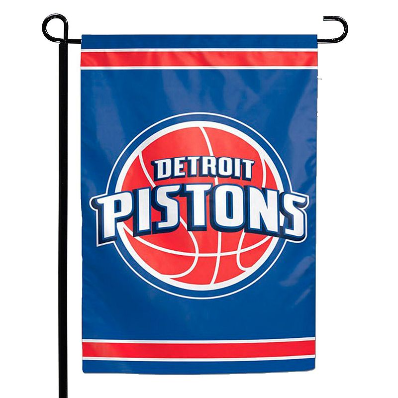 """WinCraft Detroit Pistons 12"""" x 18"""" Double-Sided Garden Flag"""