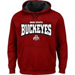Men's Scarlet Ohio State Buckeyes Big & Tall Fleece Pullover Hoodie