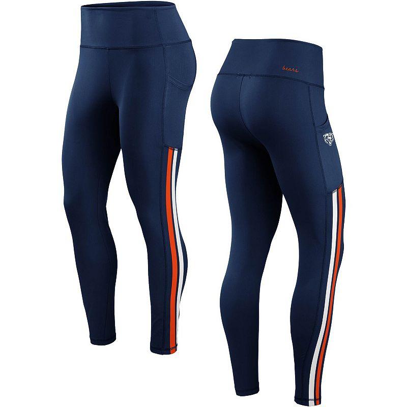 Women's WEAR by Erin Andrews Navy Chicago Bears Stretch Knit Leggings, Size: XL, Blue