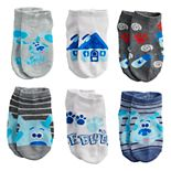 Toddler Boy Nickelodeon Blue's Clues 6 Pack Low-Cut Socks