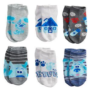 Toddler Boy Nickelodeon Blue's Clues 6 Pack Low-Cut Socks