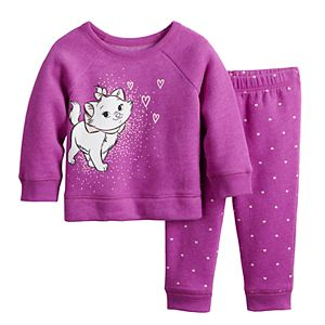 Disney's The Aristocats Baby Girl Marie Sweatshirt & Pants Fleece Set by Jumping Beans®