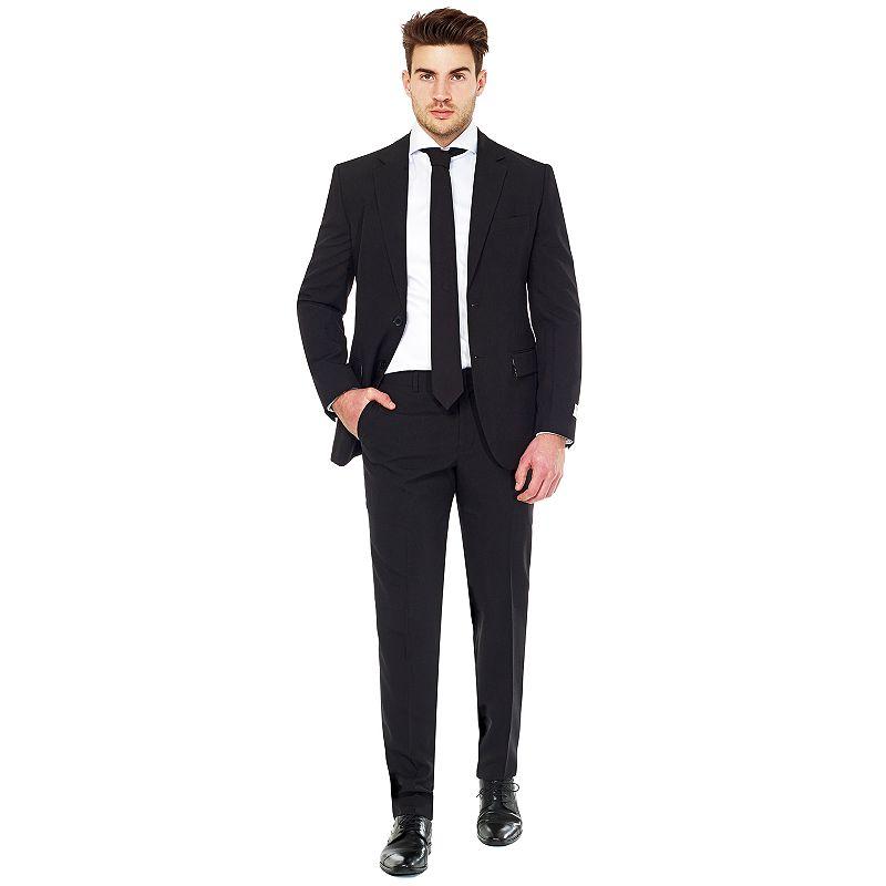 Men's OppoSuits Slim-Fit Solid Suit & Tie Set, Size: 46 - Regular, Grey