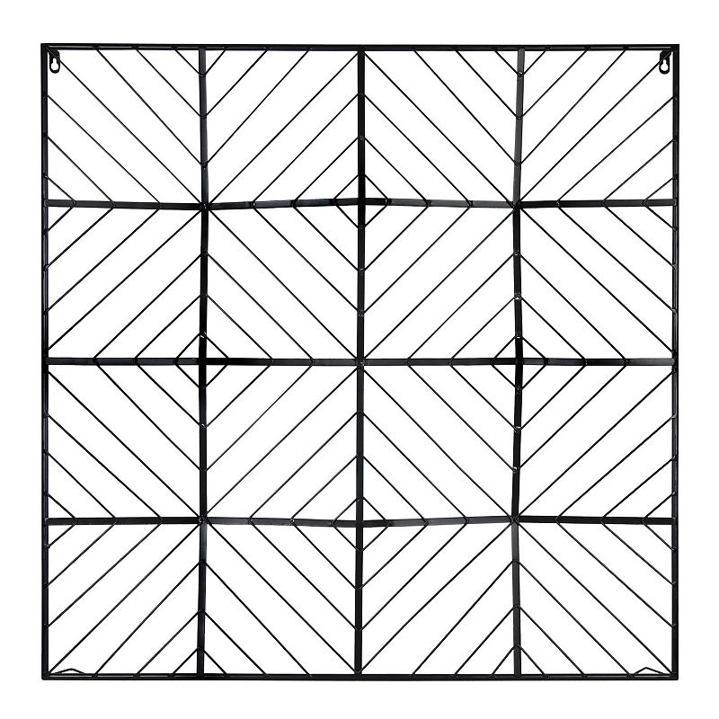 Stratton Home Decor Modern Square Wall Decor, Black Tie your guest bedroom decor together with this Stratton Home Decor Modern Square Wall Decor. Tie your guest bedroom decor together with this Stratton Home Decor Modern Square Wall Decor. Geometric design Black finish 35.43 H x 35.43 W x 1.97 D Weight: 4.4 lbs. Metal Attached keyhole Vertical display Wipe clean Imported Size: One Size. Gender: unisex. Age Group: adult.
