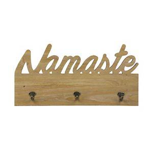 Stratton Home Decor Namaste 3-Hook Wall Decor