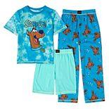 Boys 4-14 Scooby Doo Top, Shorts & Pants Pajama Set