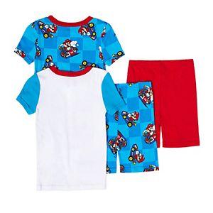 Boys 4-12 Nintendo Mario Tops & Bottoms Pajama Set