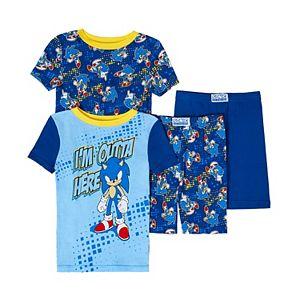 Boys 4-10 Sonic the Hedgehog Tops & Bottoms Pajama Set