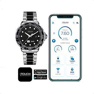 iTouch Connected Men's Two Tone Metal Band Smart Watch