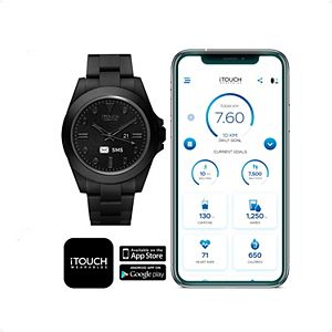 iTouch Connected Men's Black Acrylic Strap Smart Watch