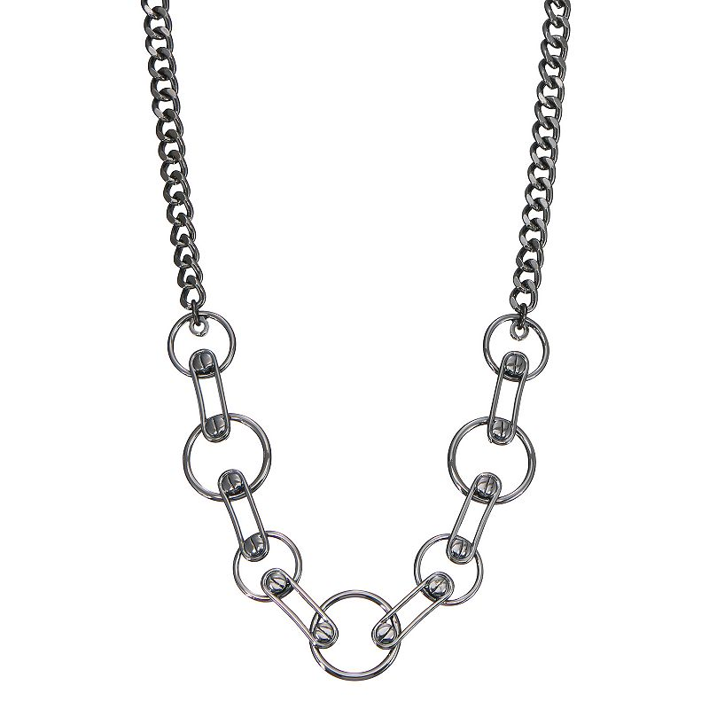 Simply Vera Vera Wang Screw Ring Link Statement Necklace, Women's, Black