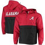 Men's Champion® Crimson Alabama Crimson Tide Colorblock Packable Half-Zip Jacket
