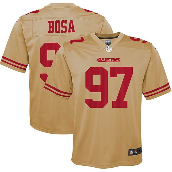 Youth Nike Nick Bosa Gold San Francisco 49ers Inverted Game Jersey