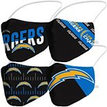 Adult Fanatics Branded Los Angeles Chargers Variety Face Covering 4-Pack