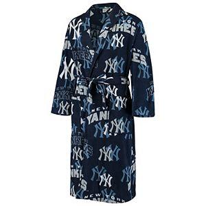Men's Concepts Sport Navy New York Yankees Pinnacle Allover Print Microfleece Robe