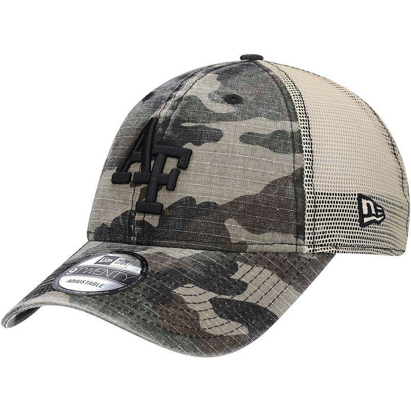 Men's New Era Camo Air Force Falcons Honor Trucker 9TWENTY Snapback Hat, Green