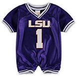 Infant Purple LSU Tigers Football Romper