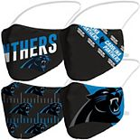 Adult Fanatics Branded Carolina Panthers Variety Face Covering 4-Pack