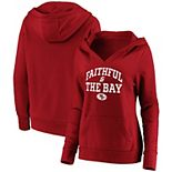 Women's Fanatics Branded Scarlet San Francisco 49ers Faithful To The Bay Pullover Hoodie