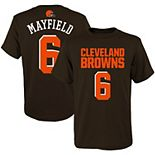 Youth Baker Mayfield Brown Cleveland Browns Mainliner Player Name & Number T-Shirt