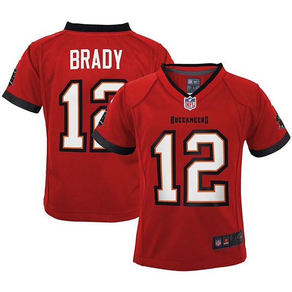 Preschool Nike Tom Brady Red Tampa Bay Buccaneers Game Jersey