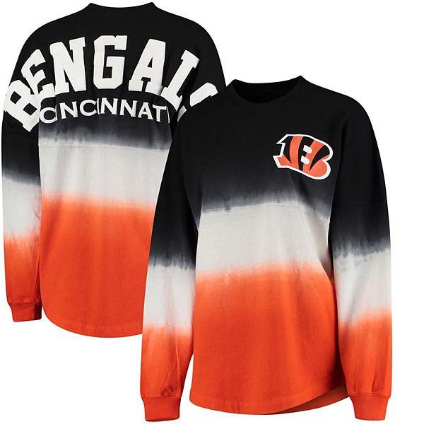 Women's NFL Pro Line by Fanatics Branded Black/Orange Cincinnati Bengals Spirit Jersey Long Sleeve T-Shirt