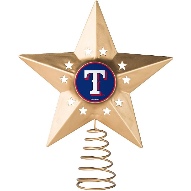 Texas Rangers Gold Tree Topper. Multicolor
