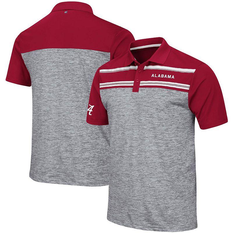 Men's Colosseum Heathered Gray Alabama Crimson Tide Murtaugh Polo, Size: XL, Grey