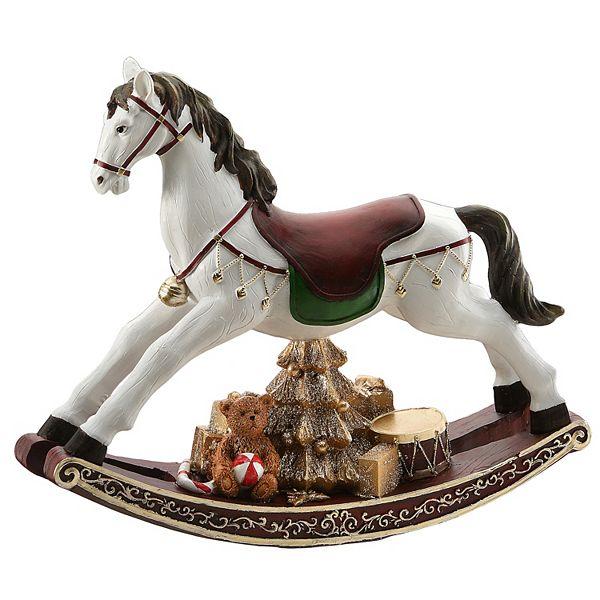 National Tree Company Christmas Rocking Horse Table Decor