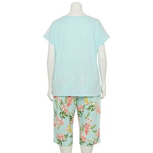 Plus Size Croft & Barrow® Pajama Tee & Pajama Capri Pants Set