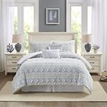 Harbor House Brice Clipped Jacquard 6-piece Comforter Set with Shams