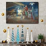 Courtside Market A Child Is Born Christmas Canvas Wall Art