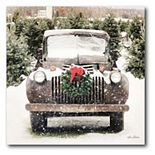 Courtside Market Vintage Truck Christmas Canvas Wall Art