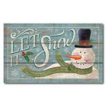 Courtside Market Let It Snow Canvas Wall Art