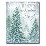 Courtside Market Let Heaven and Nature Sing Canvas Wall Decor