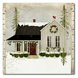 Courtside Market Snow House Canvas Wall Art