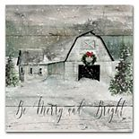 Courtside Market Merry and Bright Barn Canvas Wall Art
