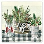 Courtside Market Christmas Gingham Canvas Wall Art