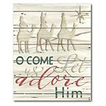 Courtside Market Come & Adore Him Christmas Canvas Wall Art