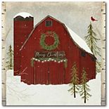 Courtside Market Snow Barn Canvas Wall Art