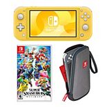Nintendo Switch Lite Console & Super Smash Bros. Ultimate Game Bundle