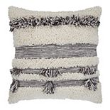 SAATVIK Handwoven Feather Fill Throw Pillow