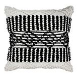 SAATVIK Feather Fill Throw Pillow with Diamond Shapes