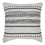 SAATVIK Handwoven Feather Fill Throw Pillow with Braided Detail