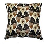 SAATVIK Embroidered Feather Fill Throw Pillow