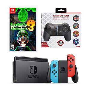 Nintendo Switch Luigi's Mansion 3 Game & Console Bundle